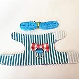 MYYXGS Guinzaglio per Criceto - Imbracatura - Imbracatura - Cinghia pettorale - Regolabile - Morbida e Traspirante - può Uscire per Una Passeggiata - Resistente S