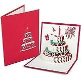 ZWOOS Happy Birthday Pop Up Carte 3D Biglietto d'Auguri per La Decorazione di Compleanno