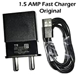 MIMOB Micromax Yu YTC15C01 1.5A Fast Wall Home Travel Charger (Black) with USB Data Cable for All Micromax & Yu Yureka , Yuphoria, Yunicorn Phones