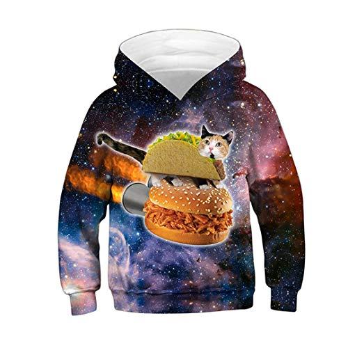 3D Print Nutella Food Chicken Pizza Girls Boys Hoodies Kids Hooded Sweatshirt Clothes 01 7T