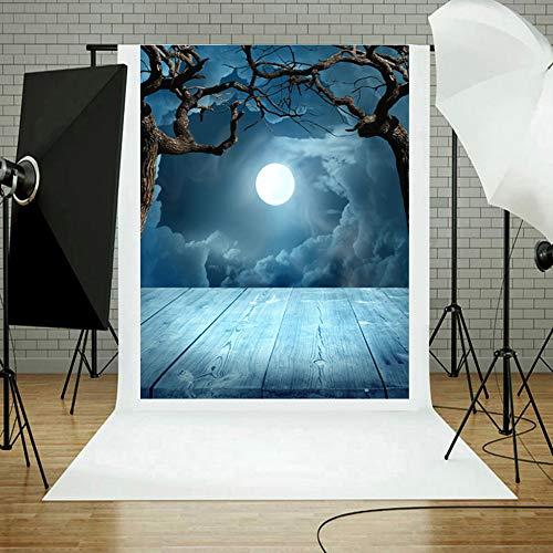 TAOtTAO Halloween Kulissen Kürbis Vinyl 3x5FT Laterne Hintergrund Fotografie Studio (F)