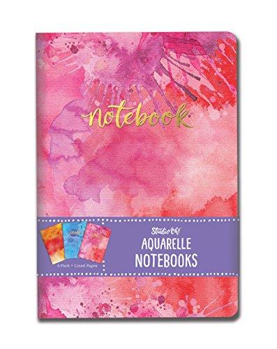 Studio Oh. Notebook Trio, Aquarelle, 3Stück Notebook
