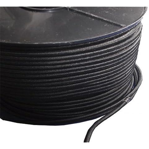 100 m x 6 mm, Yuzet-Telone resistente allo Shock elastico Bungee Cord - Nero Bungee Cords