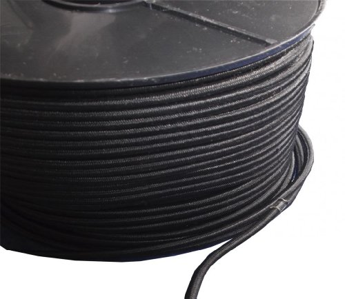 1 m x 6 mm, Yuzet-Telone resistente allo Shock elastico Bungee Cord - Nero Bungee Cords