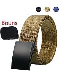 Cinturón Táctico - Durable y Cómodo y Totalmente Ajustable - Cinturón Militar de Nylon Militar Casual Riggers para Trabajos Pesados Bono de la Correa YKK Bucklet de Plástico