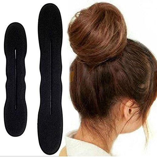 KHKJ 1pcs Hair Styling Magic Sponge Clip Foam Bun Curler Hairstyle Twist Maker Tool Accessories -
