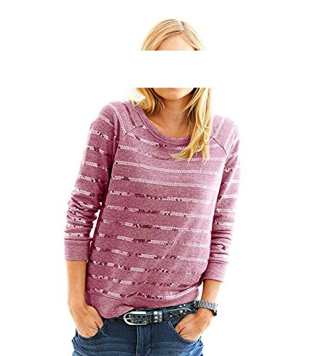 Heine - Best Connections - Sweat-shirt - Opaque - Femme Multicolore Himbeere Rose - Himbeere