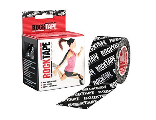 Rocktape Kinesiologie-Band schwarz Logo 5cm Breite–Länge: 5m Kinesiologie Tape