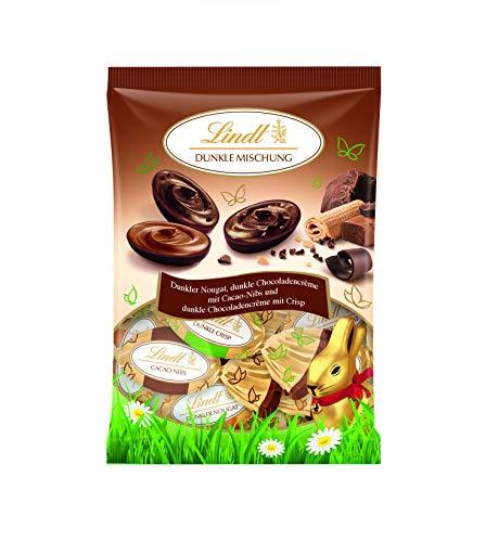 Lindt Doppeldreh Schokoladen, dunkle Spezialitäten Eier-Mix Beutel, 14 Eier, 4er Pack (4 x 144 g)