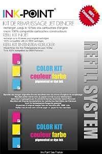 kit recharge encre couleur pigmentée pour cartouches HP 950/951/932/933 et modèles XL encre OCP made in germany