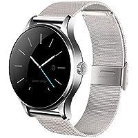 Zarupeng K88H MTK2502C Bluetooth Smart reloj pulsera de ritmo cardíaco reloj de pulsera de acero inoxidable