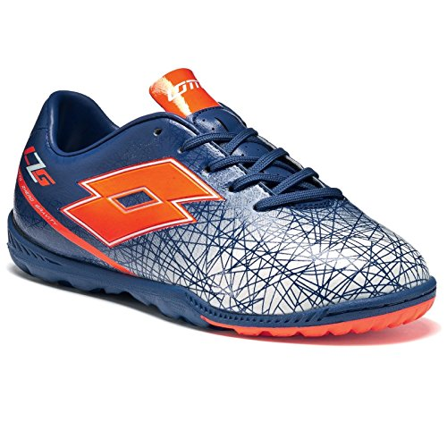 Lotto Lzg Viii 700 Tf Jr, Chaussures de Football Mixte Bébé Multicolore - Azul / Rojo (Blu Twi / Red Fl)