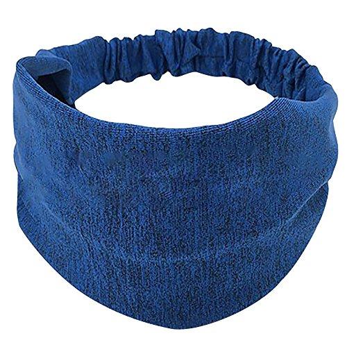 Yoga Stirnbänder, TTWOMEN Damen Head Warp Headwrap Twist Knoten Baumwolle Geknotet Haarband Kopf Wickelt Sport Elastic Turban Haar Zubehör (Blau)