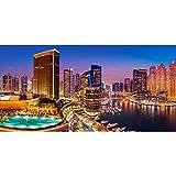 alles-meine.de GmbH Puzzle 4000 Teile - Panorama -  Marina Pano - Dubai  - Hafen Skyline Küste -..