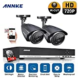 Annke Überwachungssystem 720P 4CH AHD DVR Recorder Videoüberwachung mit 2 x 960P Überwachungskameras für innen und außen Bereich mit 1TB Festplatte Nachtsicht bis zu 30 Meter