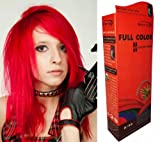 Teinture Coloration Cheveux Permanente Goth Emo Elfe Cosplay Rouge feu vif