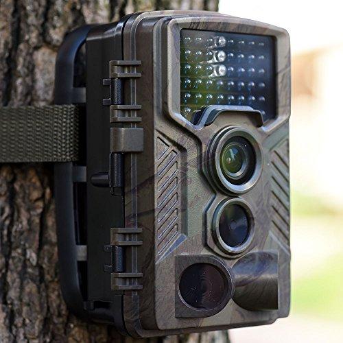 Digital Pir-cam ('ibetter Wildlife Trail Kamera, 12MP 1080P Wasserdicht Jagd Game Überwachung Kamera mit Kamera 42PCS IR LED 120° Weitwinkel Nachtsicht 2.4LCD 32GB Digitaler Anzeige)