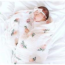 treasure-house groß Bio Musselin Baby Pucktuch, weiche blankets-muslin Wickeldecke