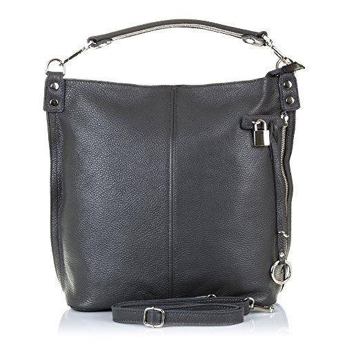Firenze ARTEGIANI.Bolso Shopping Bag de Mujer Piel auténtica.Bolso Tote Cuero Genuino Piel...