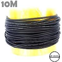 Teabelle - Tubo termoretráctil DE 10 m y 2 mm, Color Negro