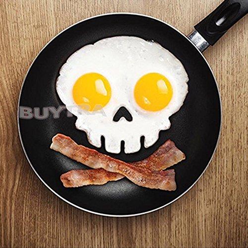 ICHKEIT Lustige Side Up Sch?del Silikon Egg Art Mould Halloween Fr¨¹hst¨¹ck Formrahmen (Speck Halloween)