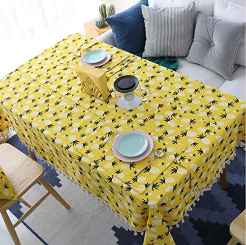 Djkaa Ananas Druck Dekorative Tischdecke Baumwolle Leinen Spitze Tischdecke Esstisch Abdeckung Für Küche Wohnkultur