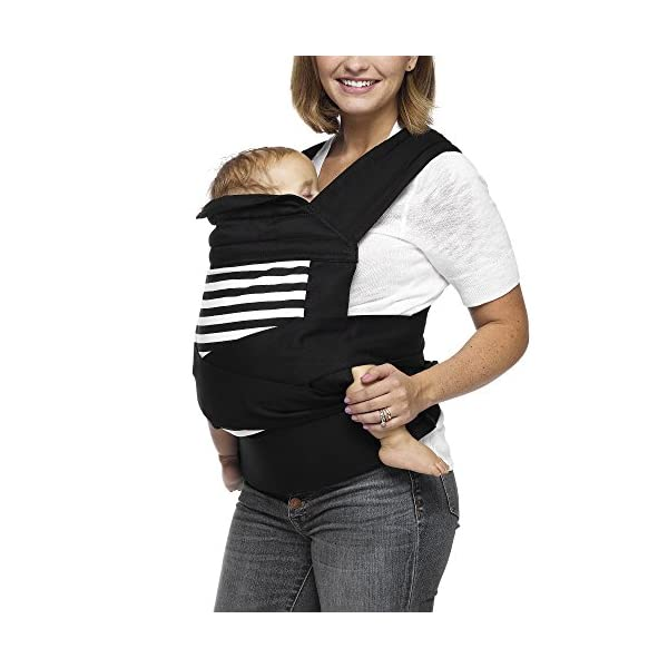 MOBY Buckle Tie Carrier for Baby to Toddler up to 45lbs, One Size Fits All, Unisex,Stripes Moby One-size-fits-all Grows with baby, from infant to toddler Offers front, hip and back carrying positions 4
