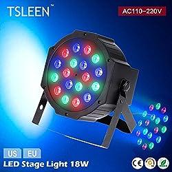 Generic 18Leds 18W EU Plug : +Flash Sale+ RGB Disco Lighting Equipment DJ PAR Lamp LED Stage Light DMX512 Controller