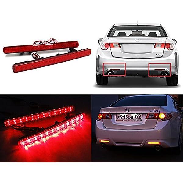 Led Bremslichter Für Stoßstange Hinten 2 Stück Rot Bitte Länderspezifische Rechtsvorschriften Beachten Auto