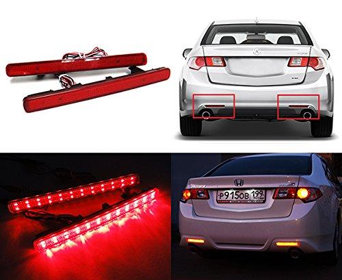 LED-Bremslichter für Stoßstange hinten, 2 Stück, rot (bitte länderspezifische Rechtsvorschriften beachten) (Licht Honda Accord)