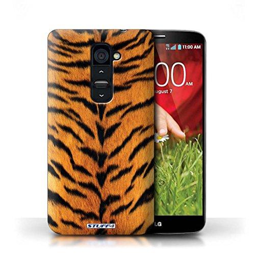 Kobalt® Imprimé Etui / Coque pour LG G2 / Zèbre conception / Série Motif Fourrure Animale Tigre