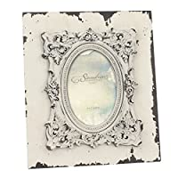 Stonebriar Weathered Wood Frame with Baroque Detailed Polyresin Frame Opening, 4 by 6""