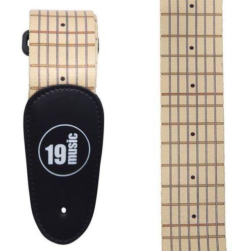 Beige Premium Qualität Soft Komfortable Touch Gitarre Griffbrett Bund Board Dots String Linien Herren Boy Weihnachts Geschenk Akustische Elektrische Bassgitarre Verstellbare Schulter Gitarrengurt (Schulter-board)