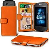 (Orange) Alcatel Idol 3C Hülle Abdeckung Cover Case schutzhülle Tasche Verstellbarer Feder Mappe Identifikation-Kartenhalter-Kasten-Abdeckung ONX3