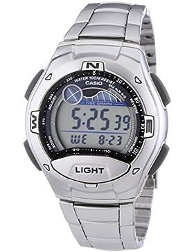 Casio Collection – Herren-Armbanduhr mit Digital-Display und Edelstahlarmband – W-753D-1AVES