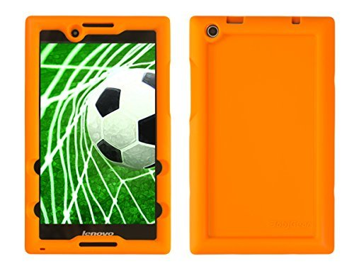 Bobj Etui en Silicone Robuste pour Tablette Lenovo Tab 2 A8-50, A8-50F, aussi Lenovo Tab 3 TB3-850F, TB3-850M - BobjGear Housse de Protection (Orange)