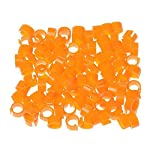 huertuer approx. 100 pcs/set colorful rings for birds and pigeon(random color) Huertuer Approx. 100 Pcs/Set Colorful Rings for Birds and Pigeon(Random Color) 51uobQ 2B95SL