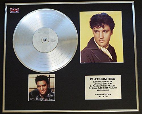 ELVIS PRESLEY/Platin Schallplatte & Foto-Darstellung/Limitierte Edition/