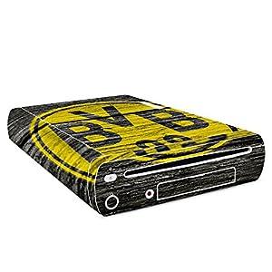 DeinDesign Skin Aufkleber Sticker Folie für Nintendo Wii U Konsole Borussia Dortmund BVB Holzoptik
