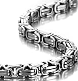 OSTAN - 316L Edelstahl Ketten mit Anhänger für Herren - Neue Mode Schmuck Halskette, Silber