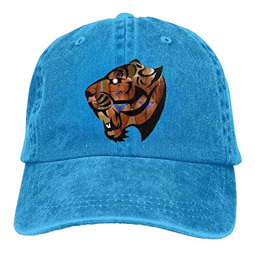 Rundafuwu Baseballmützen/Hat Trucker Cap Funny Beach Tiger Denim Hat Adjustable Women Snapback Baseball Caps Justin Womens Hut