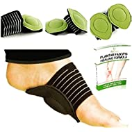 Fitbury 4Pcs Plantar Fasciitis Arch Support & FREE eBook, [2 Pairs] Fallen Arches Support, Cushioned Foot Arch Insoles For Plantar Fasciitis, Heel & Ankle Support Socks, Flat Feet Insoles [4 in Pack] Plantar Fasciitis Insoles, Arch Support Pads, Plantar Fasciitis Sock, Arch Supports For Flat Feet & Orthotic Insoles for Plantar Fasciitis