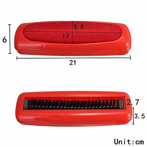 Kicode 2er-Pack Kunststoff-Teppich Sweeper Tabellen-Bett-Auto-Sitzstaub Einzelbürste Dirt Crumb Collector Rosshaar Handreiniger Roller zufällige Farbe