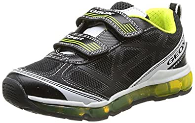 Geox J Android B B, Baskets mode garçon, Noir (Black/Lime), 40