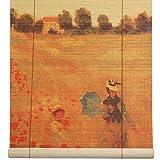 Oriental Furniture Poppies Bamboo Window...