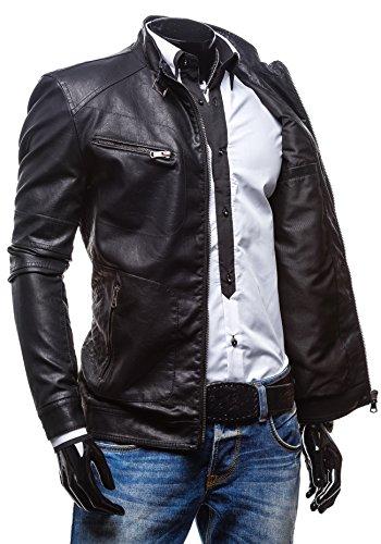 EXTREME - Veste - Faux cuir - Fermeture éclair – EXTREME 270 - Homme Noir