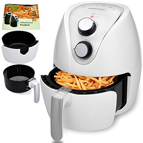 Friteuse électrique cuve amovible sans huile a air chaud livret de recettes incl. 1500W 3,6L