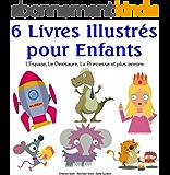 6 Livres Illustrés pour Enfants - L'Espace, Le Dinosaure, La Princesse et plus encore