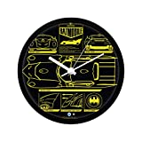 Mc Sid Razz Official DC Comics- Batman -Batmobile Design Wall Clock Gift Set