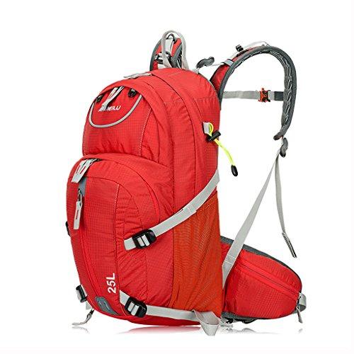 ZOUQILAI Outdoor-Reiten Rucksack Bergsteigen Tasche Fahrrad Rucksack Zubehör Wasserbeutel Rucksack Multicolor Auswahl (Farbe : Rot)